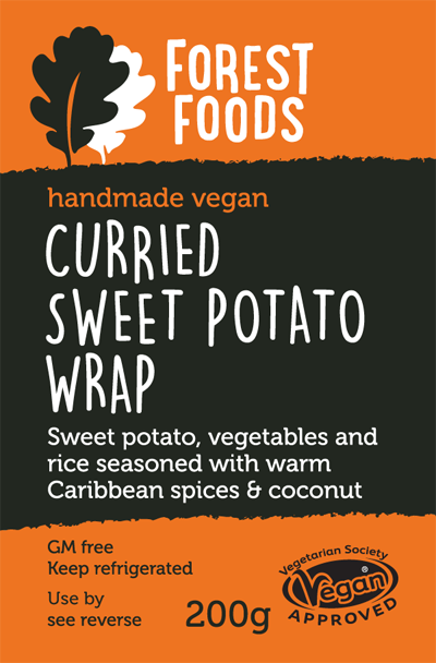 Curried Sweet Potato Wrap