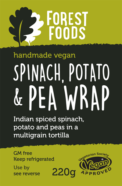 Spinach Potato & Pea Wrap